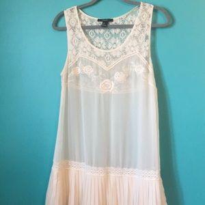 White sheer dress